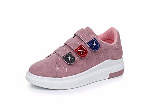 Scarpe Il Primavera GTVERNH donna Pink Scarpe Velcro Scarpe Casual Studenti da Sportive Estate Bordo E Scarpe In YSRxZS