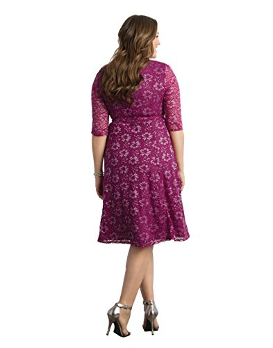 Kiyonna Women's Plus Size Glittering Affair Wrap Dress