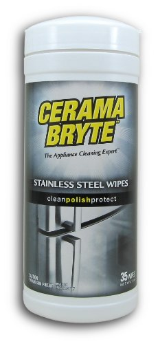 Cerama Bryte Stainless Steel Cleaning Polish -  35 Wipes (Wipes Stainless Cleaning Steel)