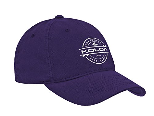 Koloa Surf(tm) Thruster Logo Classic Cotton Dad Hat-Purple/w
