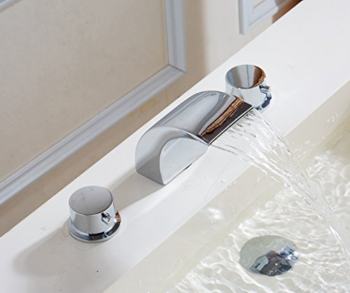 Greenspring Deck Mount Double Handles Led Waterfall