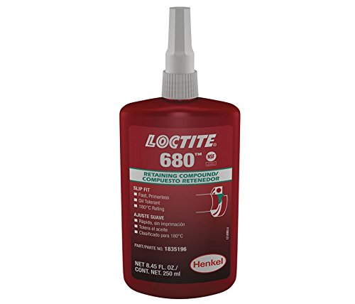 680 Retaining Compound 250 mL Bottle, Green Loctite 1835196