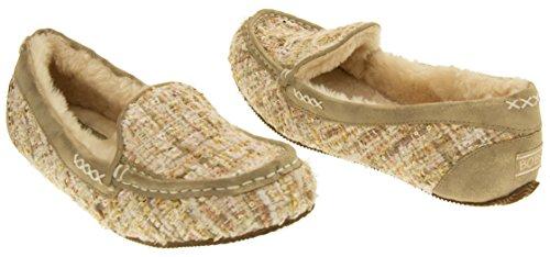 Skechers Womens Memory Foam Moccasin Slippers Natural onu3c
