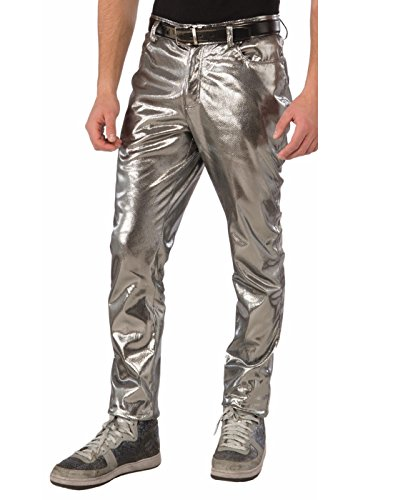 Forum Mens Futuristic Silver Pants (Cyborg Costume Accessories)