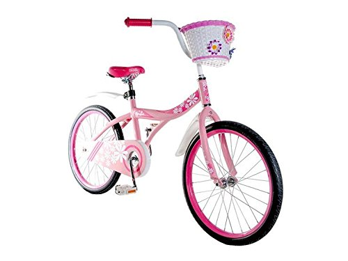 Ryda Bikes Petal - 20'' Pink Little Girls Kids Bike with Basket and Flat Proof Tires