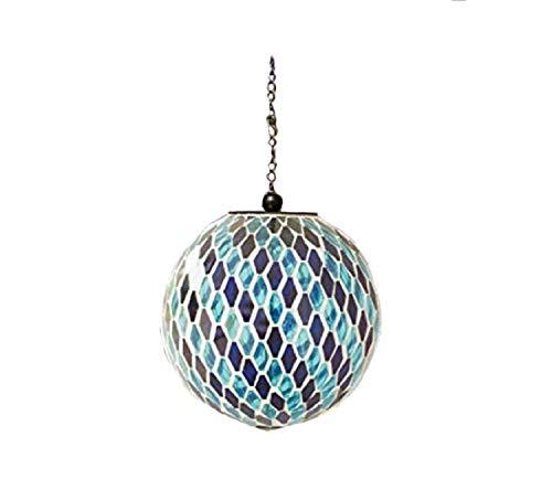 - Carson 8 inches Blue Stripe Mosaic Solar Orb