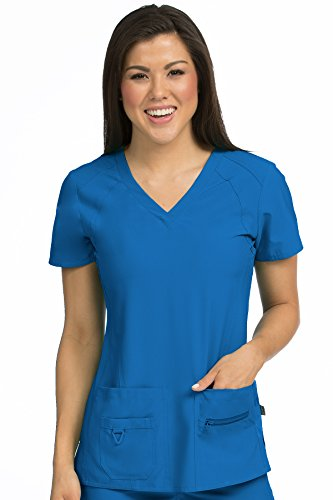 Med Couture Activate Women's V-Neck Racerback Scrub Top, Royal, XX-Large