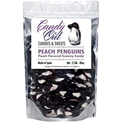CandyOut Peach Penguins 2.5 Pound Gummy Candy in Sealed Stand-up Bag
