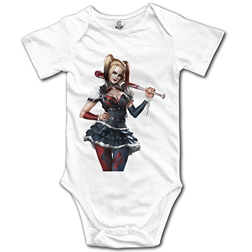 [OULIKE Batman Arkham Knight Harley Quinn By Ivances D7b0qa1 Baby Climbing Clothes Bodysuit] (Batman Arkham Suit)