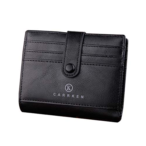 CCFAMILY Men Wallets Coin Purse Clutch Hasp Retro Short Wallet package multi-card holder