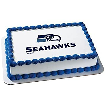 Amazon Seattle Seahawks Edible Frosting Sheet Cake Topper
