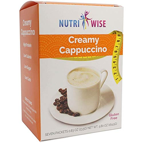 NutriWise – Classic Cappuccino Drink | High Protein, Low Calorie, Low Carb, Low Fat, Gluten Free (7/Box)