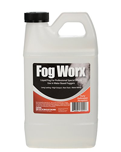 FogWorx Fog Juice - 1 Half Gallon of Organic Fog Fluid (64 oz) - Medium Density, High Output, Long Lasting Fog Machine Fluid