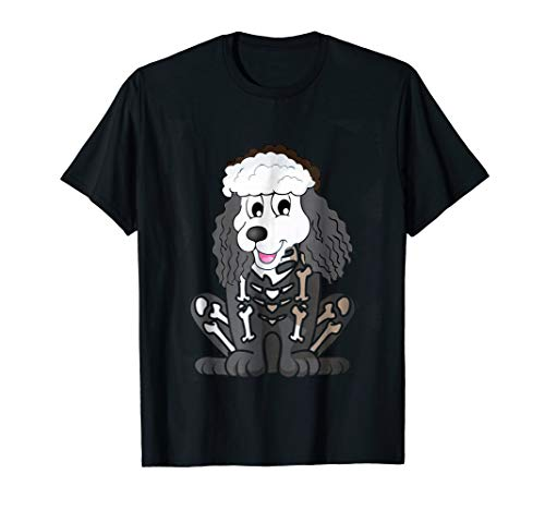 Funny Poodle Halloween Costume - Dog Bone Dad T-Shirt -