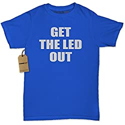 Womens Get The Led Out T-Shirt Small Royal Blue