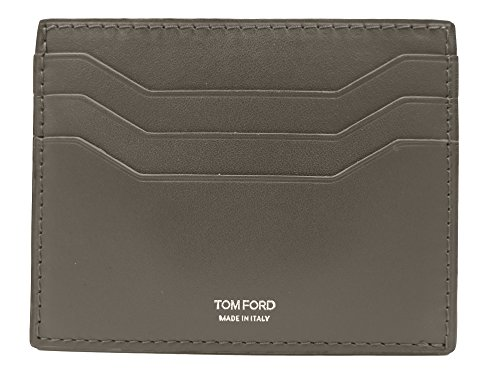 Tom Ford Taupe Leather Card - Ford Men Tom Wallet For