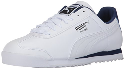 PUMA Men's Roma Basic Sneaker White-Blue Depths, 13 M US ()