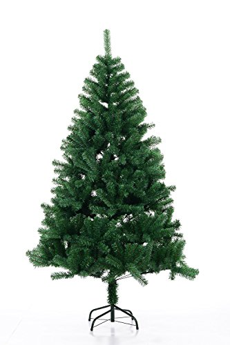 Beauty Life Christmas tree Premium Artificial Christmas Pine Tree with Solid Metal Legs&Tree Skirt&Manual Instruction – G-8' (240cm) (Christmas Tree Skirt For Instructions)