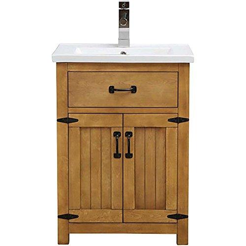 24 Free Standing Vanity (DECOLAV 5232-24-FHO Countryside 24 Inch Freestanding Vanity w/ Top Farmhouse Oak)