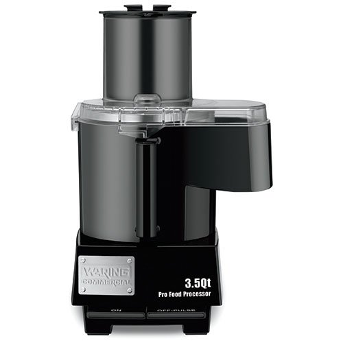 Waring Continuous Feed Food Processor - Waring Commercial WFP14SC Batch Bowl and Continuous Food Processor with LiquiLock Seal System, 3-1/2-Quart