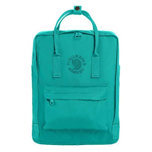 Fjallraven - Re-Kanken Recycled and Recyclable Kanken Backpack for Everyday, Emerald - Kanken Mini Backpack