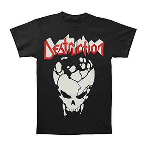 Ptshirt.com-19163-Destruction Men\'s Cracked Skull T-shirt Black-B00G2TR9HU-T Shirt Design