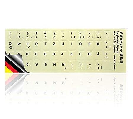 LEDELI Tastaturaufkleber nachtleuchtend Fluoreszierende Tastatur Aufkleber Keyboard Sticker für leuchtet phosphoreszierend LE