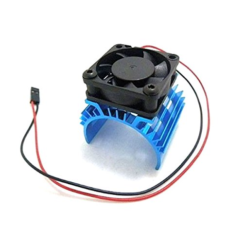 Foxnovo Durable Aluminum Alloy Heatsink Heat Sink with 5V Cooling Fan for 110 Car 540 550 3650 Size Motor