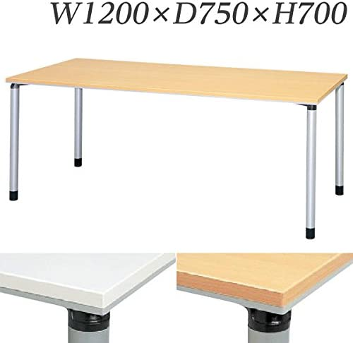 生興 テーブル ET型会議用テーブル 直線型 W750×D750×H700 片側キャスター脚 ET-750KC ペールアルダー
