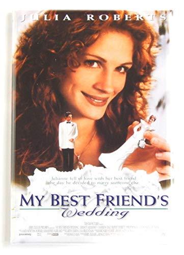 My Best Friend's Wedding Movie Poster Fridge Magnet (2.5 x 3.5 inches)