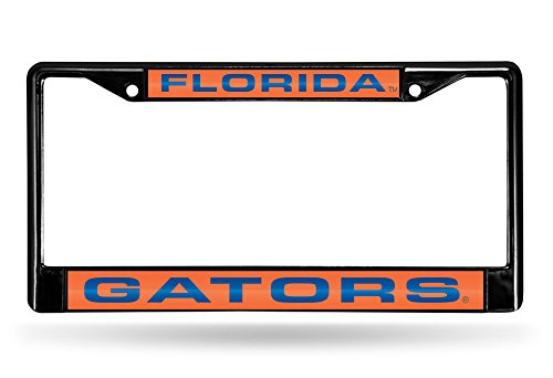 Rico Industries NCAA Florida Gators Laser Cut Inlaid Standard Chrome License Plate Frame, 6