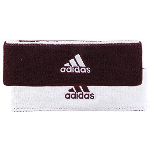 - adidas Interval Reversible Headband, Maroon/White-White/Maroon, One Size