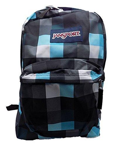 Jansport Superbreak Backpack (Forge Grey/Blinded Blue Double (Jansport Plaid Backpack)