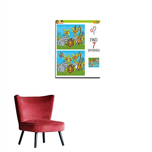 longbuyer Poster Wall Decor spot The Differences Game