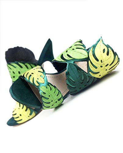 Zara Femme Sandales en cuir enveloppantes en forme de feuilles 1554/201
