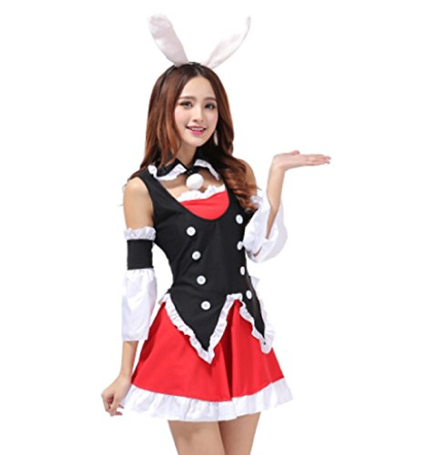 Party City Bunny Costume (MCS-JP [Bunny Tuxedo Costume] Maid style cosplay bunny cosplay (Size M))