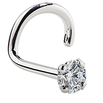 Amazoncom FreshTrends 15mm 0015 ct tw Diamond 14K White Gold