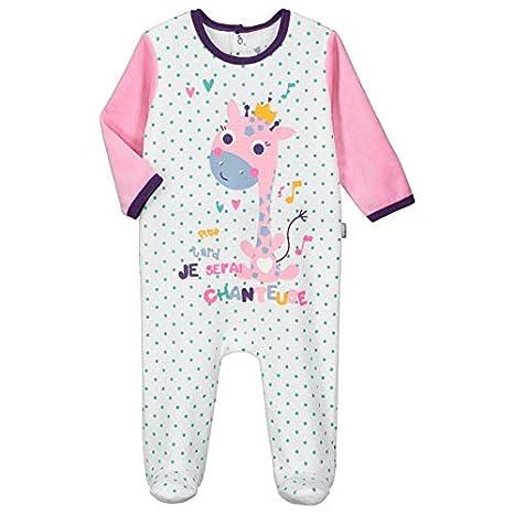 Pyjama bébé velours Misslala - Taille - 3 mois (62 cm) Petit Béguin