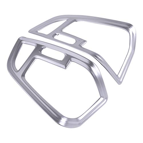 beler Chrome Front Side Dashboard AC Air Vent Cover Trim Fit for Ford Escape Kuga 2017