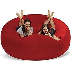 Chill Bag - Bean Bags Huge Bean Bag, 8', Red Pebble