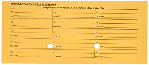 Envelopes Interoffice Quality Park (Quality Park 63262 Quality Park Interoffice Envelopes, Printed 1-Side, 4-1/2x10-3/8, Kraft, 500/Bx)