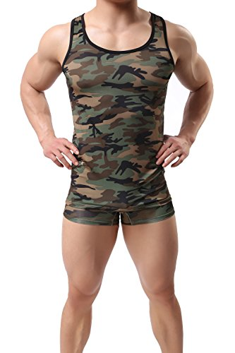 ONEFIT Mens Camo Muscle Tank Top Gym Work Out Super Thick One Pack