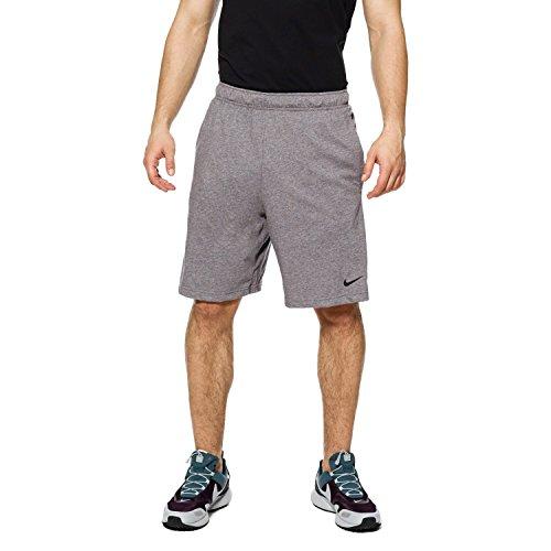 NIKE Mens Short Dri-fit Cotton Training Shorts (M, Gunsmoke/Black)