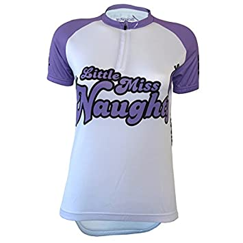 3c3537449 Scimitar Sports 111 Little Miss Naughty Cycle Jersey - White Purple ...