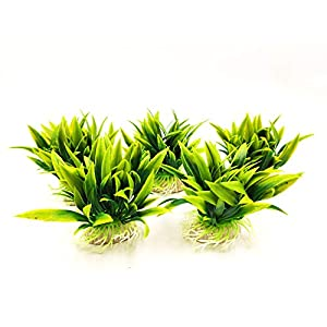 BEGONDIS 5Pcs Aquarium Decorations Fish Tank Artificial Green Water Plants Made of Soft Plastic