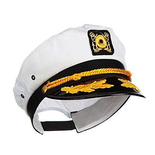 Ifavor123 Sailor Captain Yacht Adjustable Snapback Cap Boat Halloween Hat ()