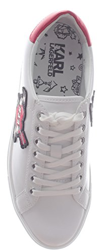 011 KL61036 Blanc Sneaker White Lagerfeld Karl Lace Femme LTHR Karl Captain Chaussures fwqP4IgPX