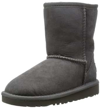 UGG Unisex Classic Short Pull on Boot (Toddler/Little Kid), Grey, 6 M US Toddler