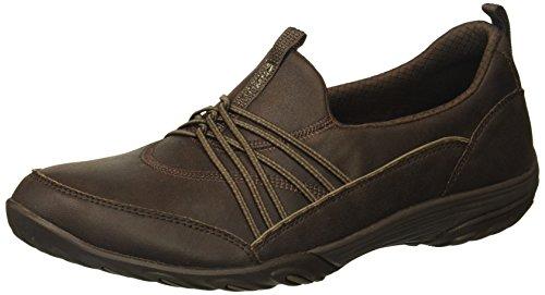 Shoe Brown Flat Sport (Skechers Sport Women's Empress Lets BE Real Sneaker, chocolate, 10 M US)