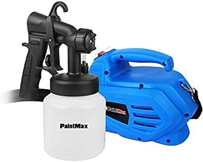 PaintMax 800ml Handheld Electric Paint Sprayer Gun. 3 Different Spray Patterns, HVLP System, Quick Refill Lid, Detachable Container- Indoor Outdoor Home Furniture Garage Fence Deck Precise Paint